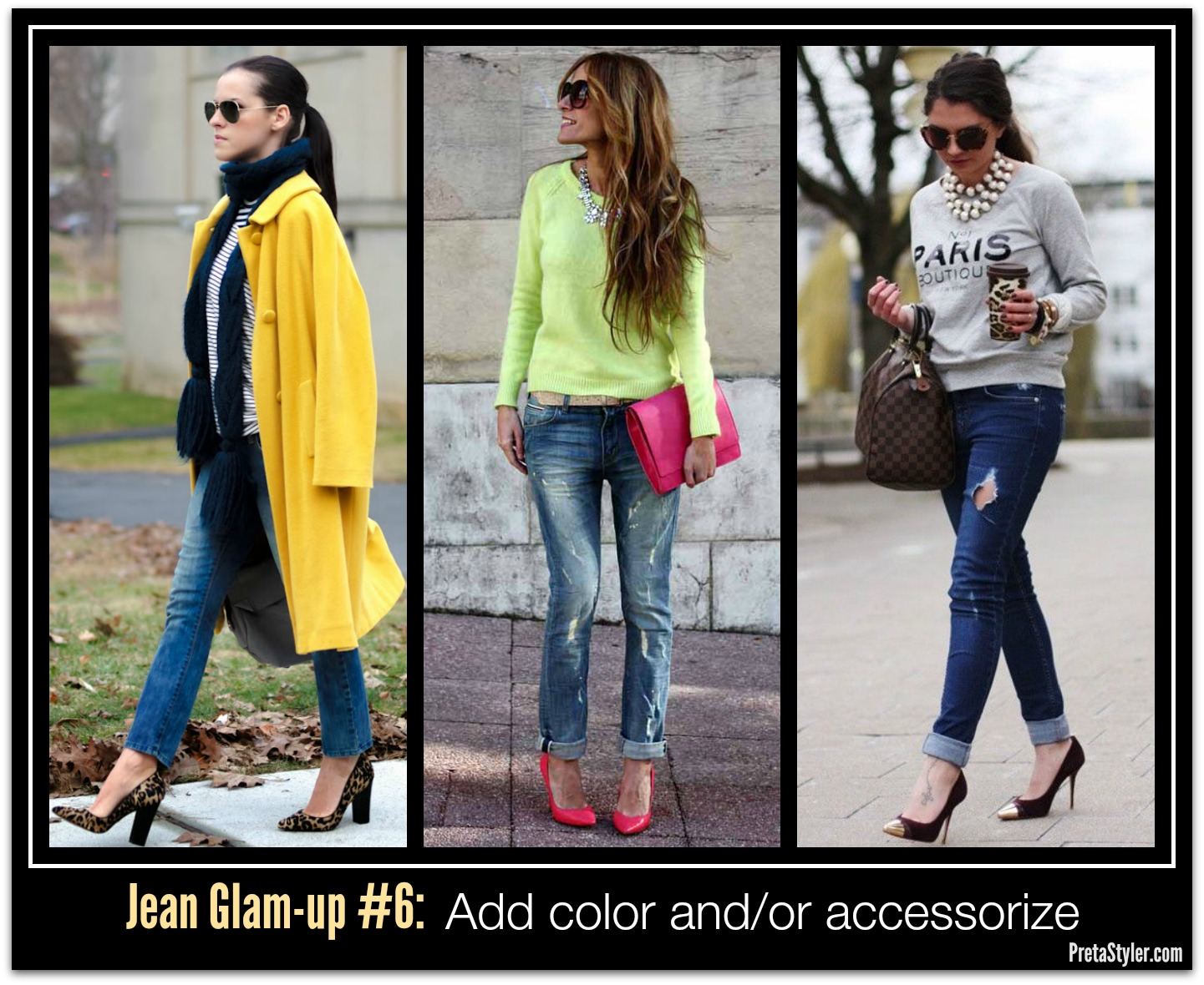 How to Glam-up Blue Jeans #6