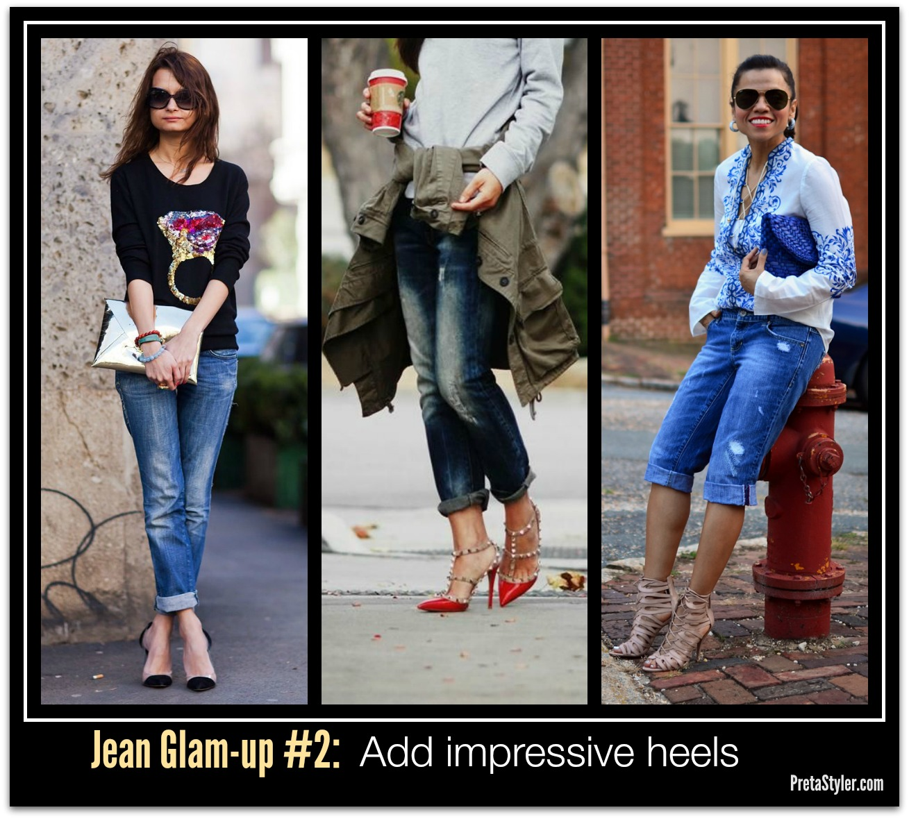 How to Glam-up Blue Jeans #2