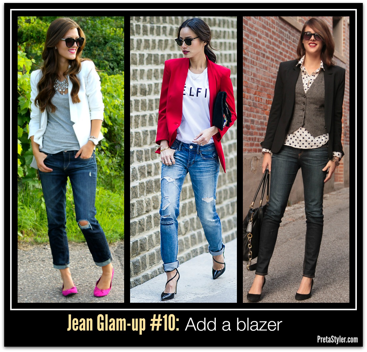 How to Glam-up Blue Jeans #10