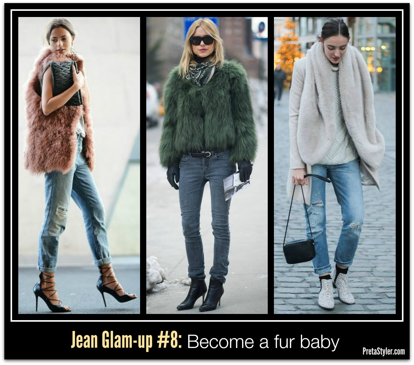 How to Glam-up Blue Jeans #8