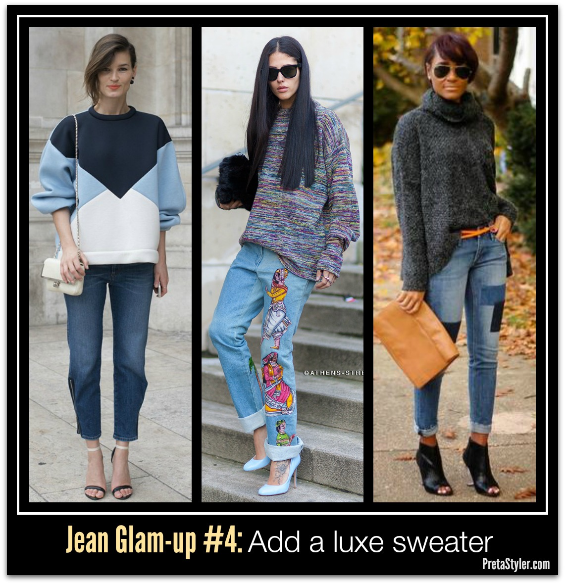 How to Glam-up Blue Jeans #4