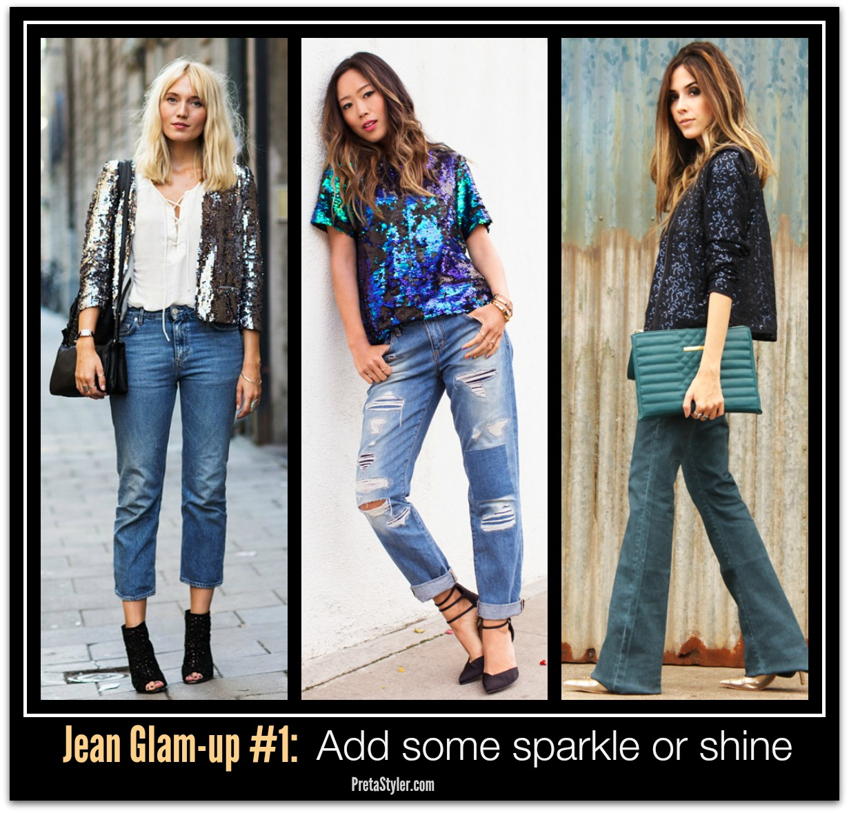 How to Glam-up Blue Jeans #1