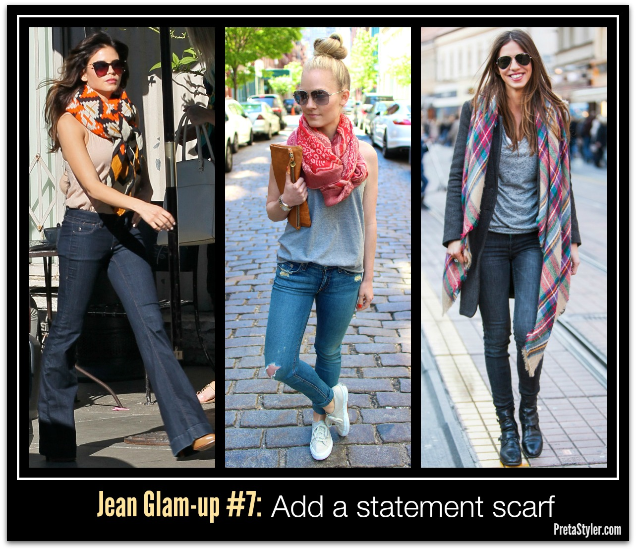 How to Glam-up Blue Jeans #7