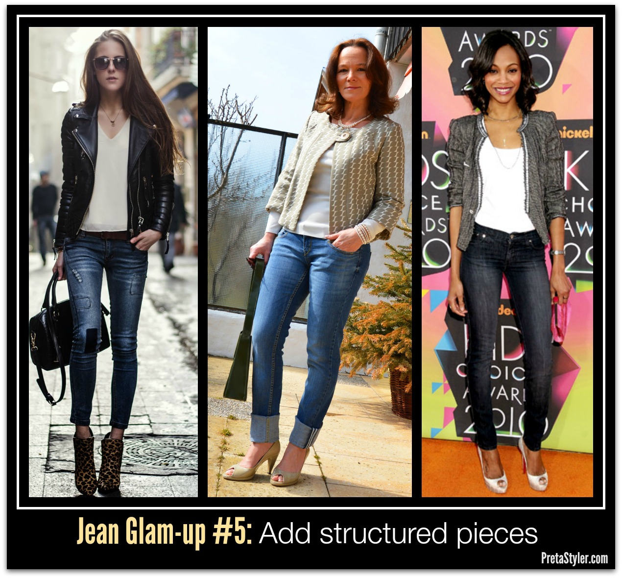 How to Glam-up Blue Jeans  #5