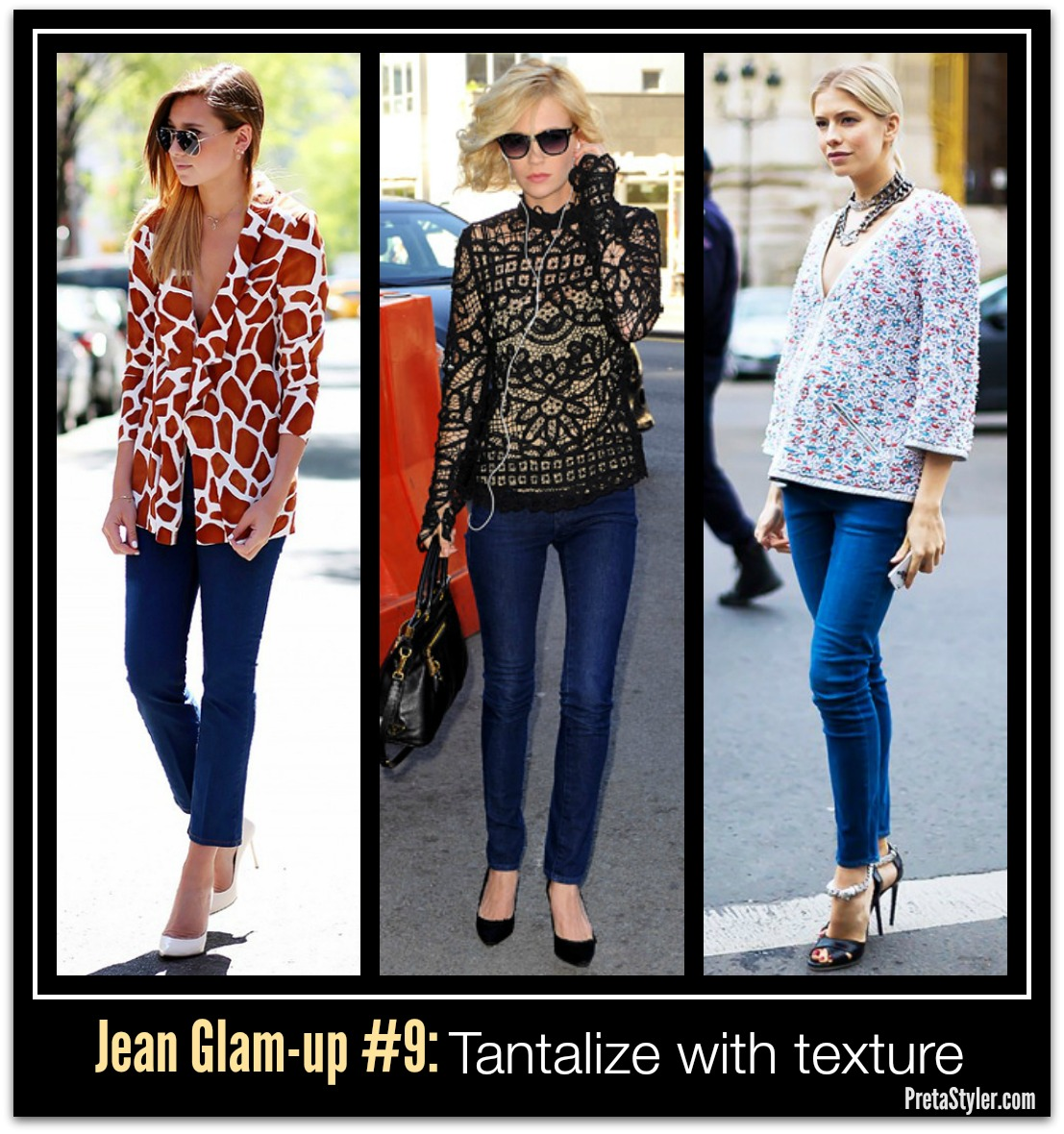 How to Glam-up Blue Jeans #9