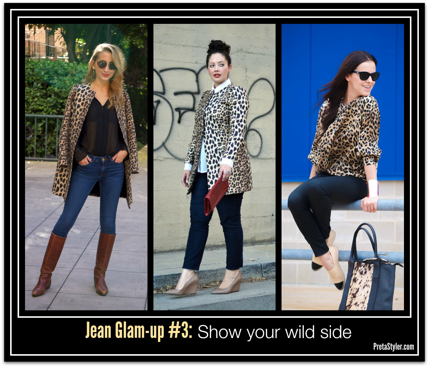 How to Glam-up Blue Jeans #3