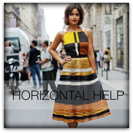 Horizontal fashion features