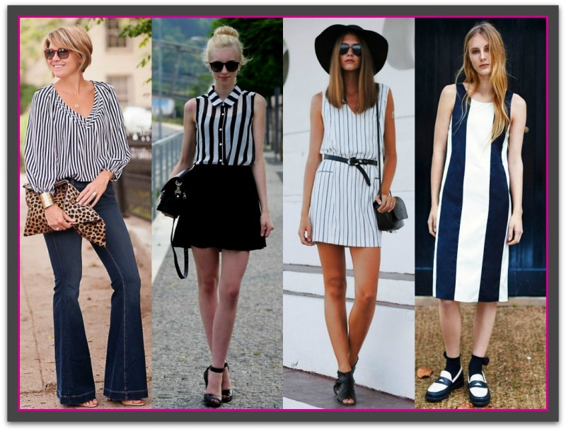 Wearing vertical stripes