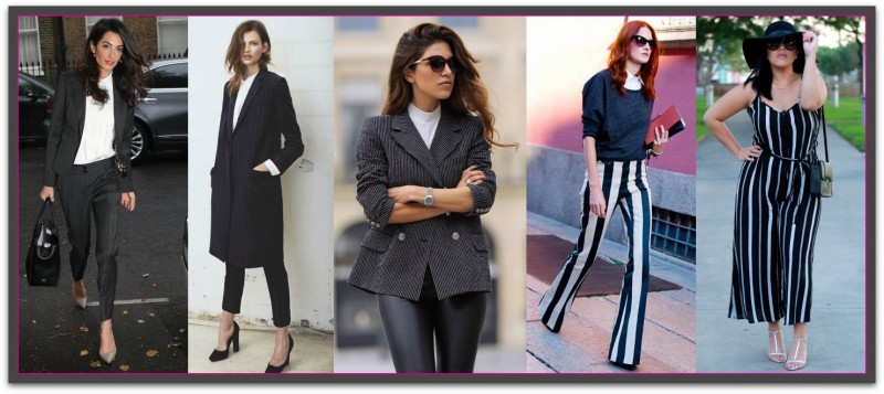 women in pinstripes
