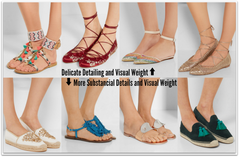 Flat Shoes Detailing and Weight