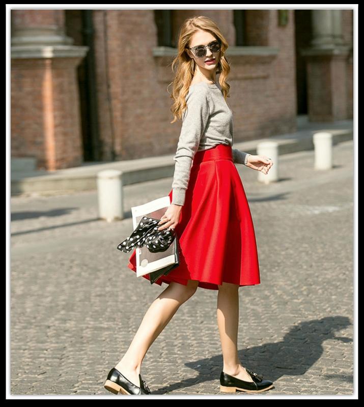 Femininas-Fashion-Elegant-Solid-Long-Skirts-2015-Street-Style-Autumn-Women-s-Solid-Black-Casual-High