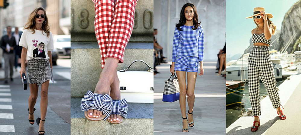 gingham trend for summer 2018