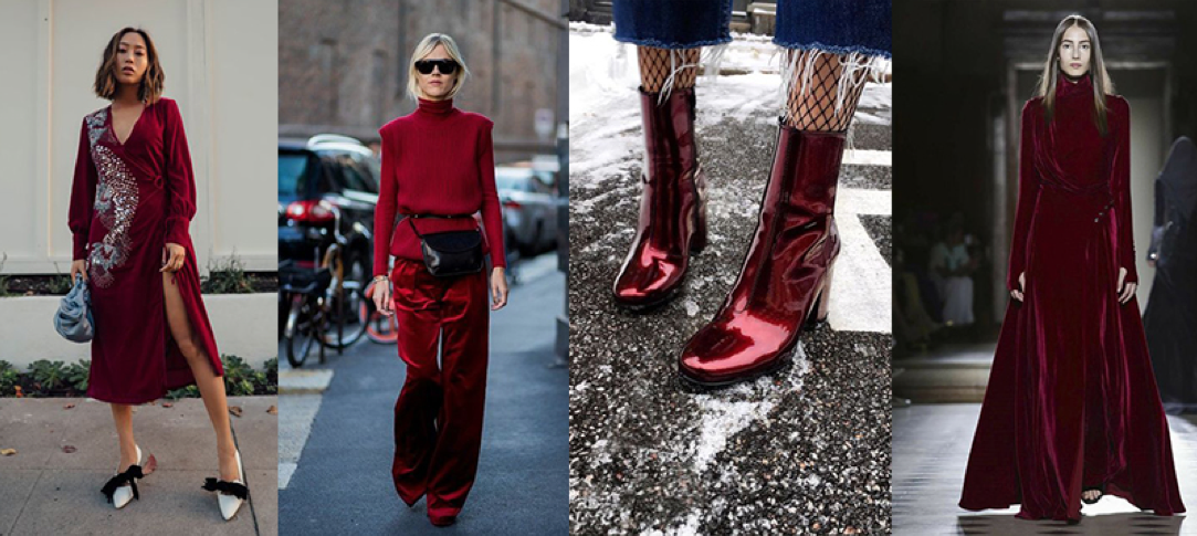 winter 2018 trends deep red