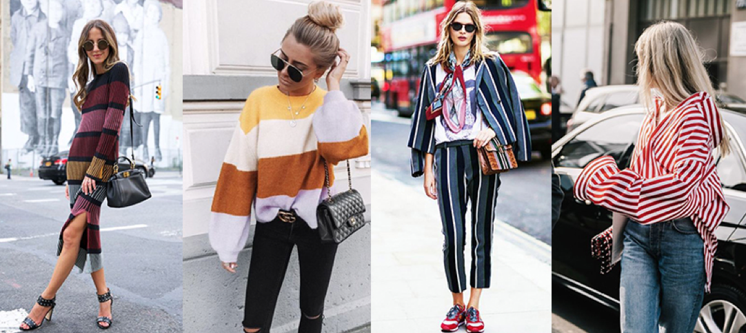 winter 2018 trend bold stripes