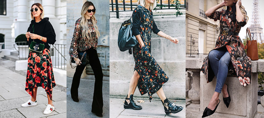 winter 2018 trend dark florals